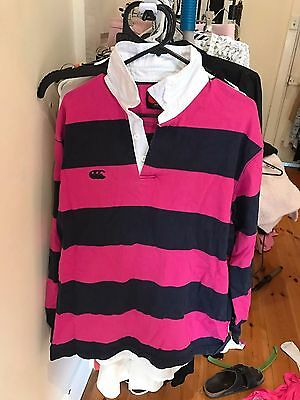 Canterbury Womens Rugby Jumper Navy/Pink Size