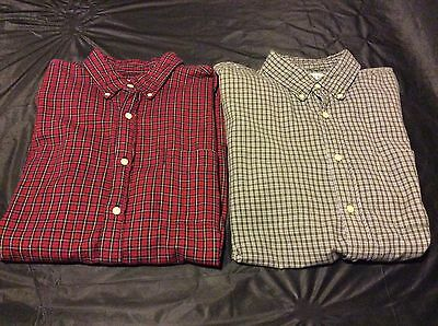 Lot Of J Crew Mens Short Sleeve Collared Button Down Shirts - Size Large