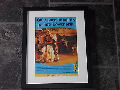 Lowenbrau beer-Rare 2002 Original advert Framed ready for your wall