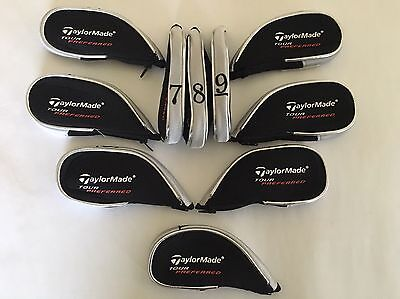 10 Taylormade Tour Preferred Golf Club Iron Covers Zipped Head Cover 2017 Inc LW