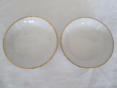 Pair of Petite KPM (Berlin) Rocaille Pattern Round Dishes