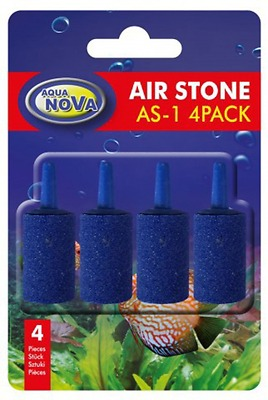 Aqua Nova Pack of 4 Cylinder Air Stone  Airstone Oxygen into Pond or Fish Tank