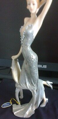 New Art Deco Style figurine of Lady with chair (Julianna collection)