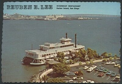 San Diego Reuben Lee Riverboat Harbor Island California Postcard