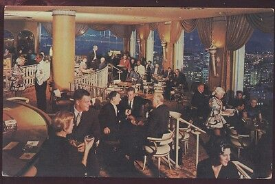 Fairmont Hotel Tower Restaurant San Francisco California Crown Lounge Postcard