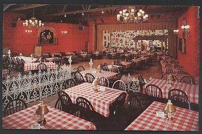 Rockton Pigalle Music Hall Wagon Wheel Lodge Restaurant Interior Postcard