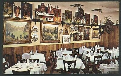 Gemuetlichkeit Old Europe Washington DC Restaurant Interior Postcard