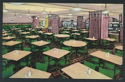 Chicago YMCA Hotel Cafeteria Illinois Restaurant Interior Postcard