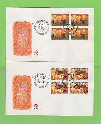 Greenland 1999 Christmas blocks set on two first Day Covers