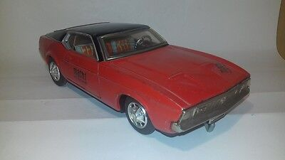Rare Taiyo 1971 Ford Mustang Mach 1Battery Operated Tin Toy Vintage