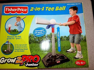 Fisher Price 2 in 1 Tee Ball Grow 2 Pro Junior   T3261 Mattel 2010  New