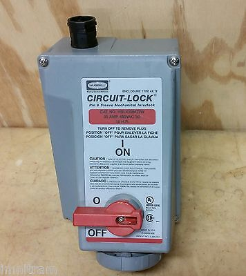 6 NEW HUBBELL CIRCUIT-LOCK 30 AMP MECHANICAL INTERLOCK HBL430MI7W -- Lots of 6