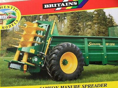 britains samson manure spreader scale 1.32 box