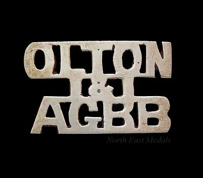 Unidentified Shoulder Title 'OLTON & AGBB' Military? Railway? Acocks Green?