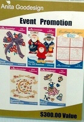 EVENT PROMOTION – NEW $300.00 Value Anita Goodesign Embroidery Cd