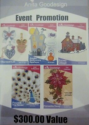 EVENT PROMOTION 2011  – NEW $300.00 Value Anita Goodesign Embroidery Cd