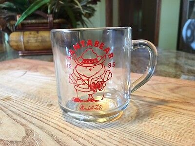 Marshall Field's Santabear 1995 Glass Mug Excellent Condition Very Collectible