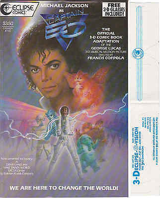 Michael Jackson BD Bande Dessinée CAPTAIN EO 3D Comic Book 1987