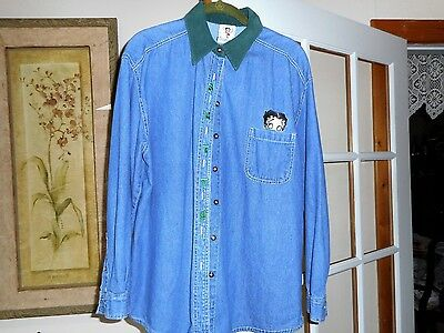 Betty Boop Sz M Long-Sleeve Denim Jacket Smoke-free Excellent Condition