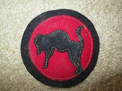 """WWI US Army 92nd Division,Artillery """"Buffalo"""" Patch AEF"""