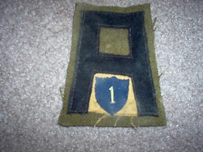 WWI US Army patch First 1st Army 1st Chemical Defense patch AEF