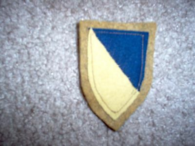 WWI US Army Chemical Corps patch wool AEF