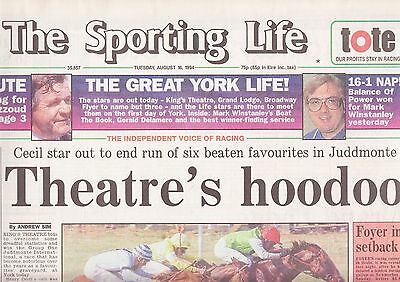 "The Sporting Life Newspaper - Tuesday August 16, 1994 ""Juddmonte"""