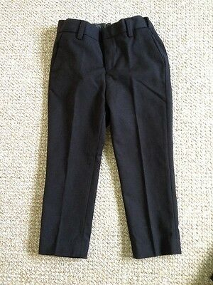 Boys Black Suit Trousers/pre School Trousers 2-3yrs