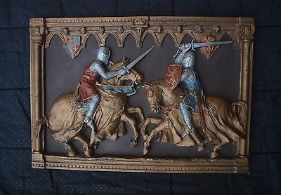 Marcus Designs Hand Made Jousting Knights Wall Plaque