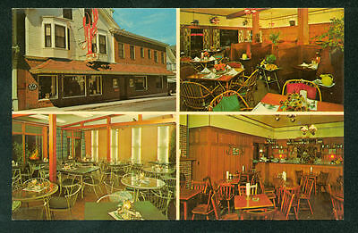 Testas Hotel and Restaurant Bar Harbor Maine Postcard