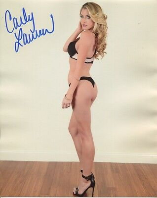 Carly Lauren In Person Signed Photo - B755 - Playboy Playmate Miss October 2013