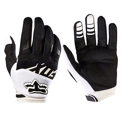 White L Size Mens BikeMTB Racing Gloves Motorcycle Cycling Offroad Motocross