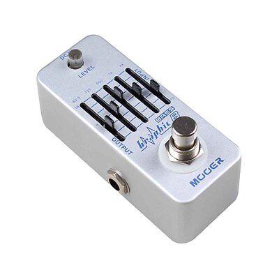 Mooer Micro Series Graphic B - 5 Band Bass Guitar Equaliser Effects Pedal