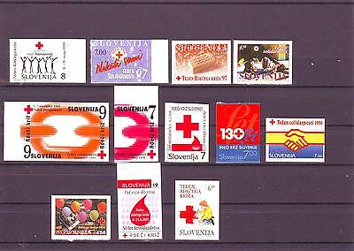 Slowenien Slovenia Slovenie selection of self adhesive charity stamps MNH