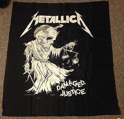 """Metallica """"damaged Justice"""" Extremely Rare Vintage Full Size Banner"""