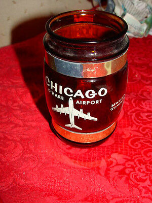 Chicago O'Hare Airport,  Old Water Tower, Marina Towers Brown Souvenirs Cup