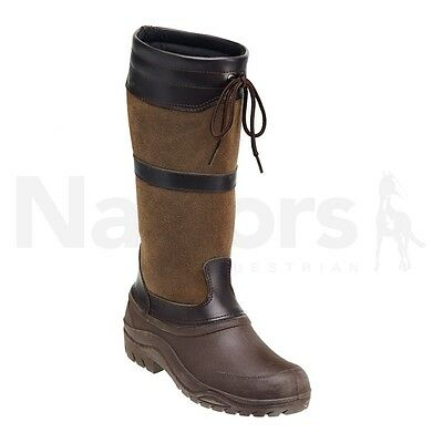 Harry Hall Ramble Ladies Winter Boots,Size 5 Brown