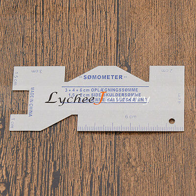 Thickness Measuring Gauge Ruler for Sewing Quilting Alloy DIY Hand Craft Tool
