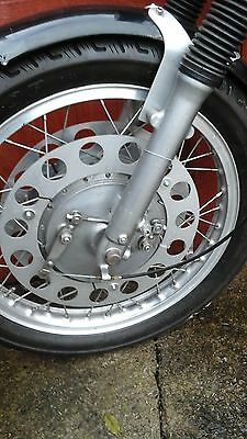twin leading shoe brake cafe racer norton bsa