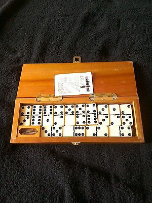 Dominoes In A Nice Wooden Box.