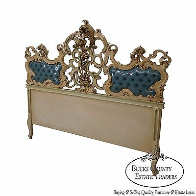 Vintage Beautifully Carved Rococo Style Headboard