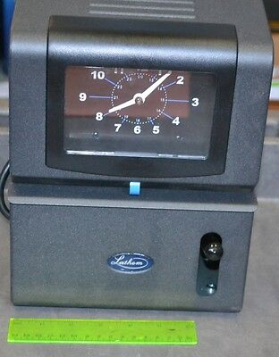 Lathem Heavy-Duty Time Clock Recorder Cool Gray Grey 2121
