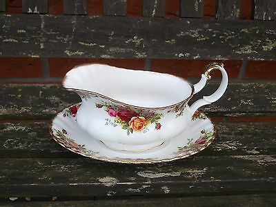 Royal Albert Old Country Roses Sauce Boat & Stand