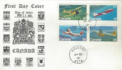 1981 #903-6 Canadian Aircraft  FDC with unusual Calgary, AB cachet