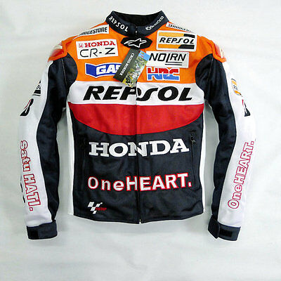 Motorcycle Honda Repsol Biker Racing Jacket Protection MotoGP