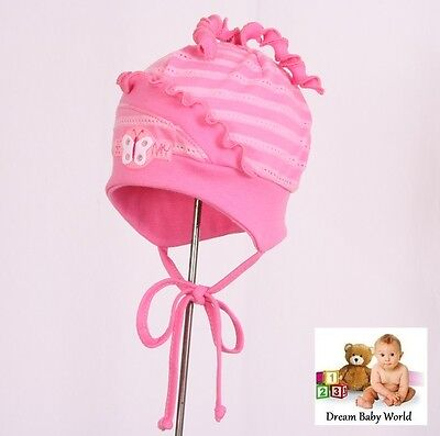 Rich cotton baby girls TIE UP hat SPRING size 0 - 18 months KIDS toddler CAP