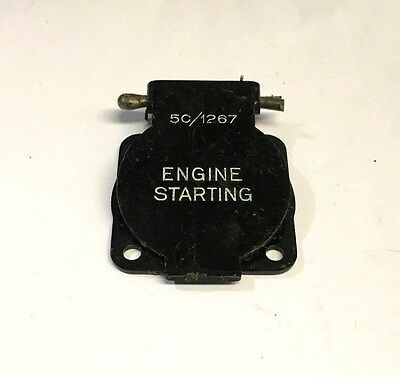 Ww2 Raf Aircraft Engine Starting Switch Cover 5C/1267