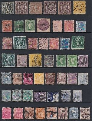 AUSTRALIA NEW SOUTH WALES collection 50 used values from 1856