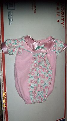 CABBAGE PATCH KIDS     DOLL CLOTHES, BUNTING baby PINK