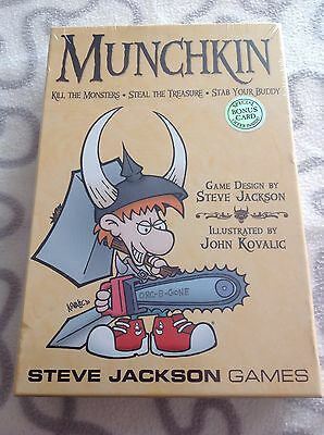 Brand New Munchkin Game by Steve Jackson 1st Edition 24th Printing Sealed!
